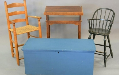 Four piece lot to include Windsor style youth chair