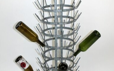 French wine bottle drying rack