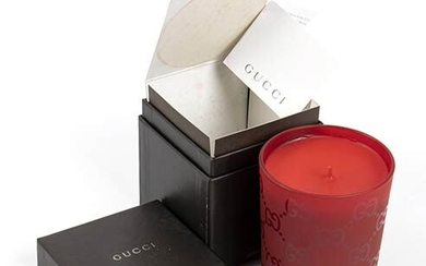 GUCCI 'GUCCISSIMA' CANDLE 2015 ca Guccissima Candle (red glass) with...