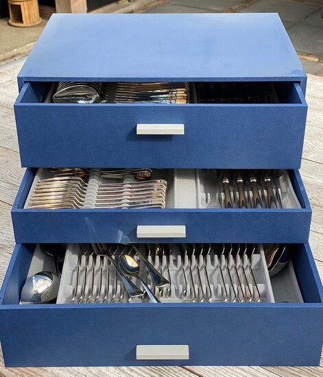 Keltum Kempen & Begeer - Cutlery set silver plated 9-person, 94 pieces (1) - Silverplate