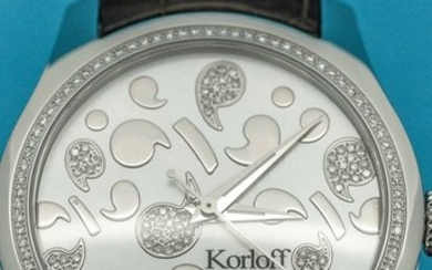 Korloff - Automatic Diamond 0.70 Carat Limited Edition Number 444 Mother of Pearl Crocodile strap Swiss Made- CAK38/2A3 - Women - BRAND NEW