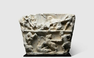 LARGE ROMAN GLADITORIAL RELIEF EUROPE, MID SECOND