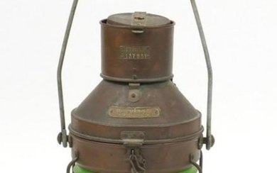 Large copper and brass Meteorite ships lantern, with