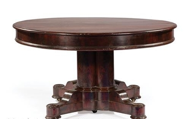 Late Classical Mahogany Extension Dining Table