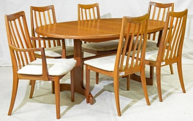 Mid Century Modern Teak Table & 6 Chairs by G-plan