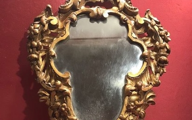 Mirror with stoup - Gilt, Wood - Mid 19th century