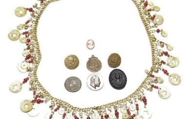 "Mixed Metals ""Coins & Medals"" Costume Jewelry"