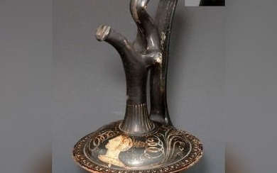 Nice Example Of A Greek Terracotta Epichysis Of Gnathian Ware - 200mm height