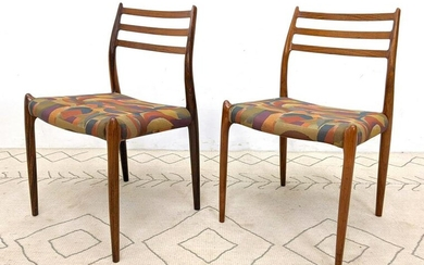 Niels O. Moller Rosewood Chairs. Wood in excellent cond