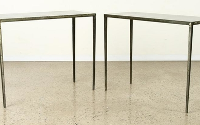 PAIR IRON CONSOLE TABLES MANNER JEAN-MICHEL FRANK