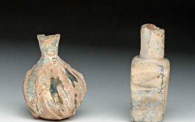 Pair of Ancient Islamic Glass Vessels