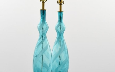 Pair of Empoli Lamps, Murano