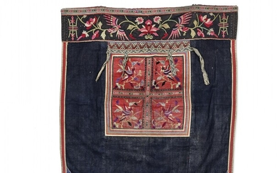 Partially embroidered furnishing fabric Ethnic minorities, South-East Asia, 20th Century