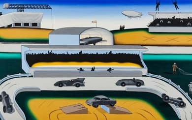 Roger Brown (American, 1941-1997) Sunday Afternoon at