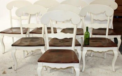 Set of 8 Nichols and Stone painted chairs