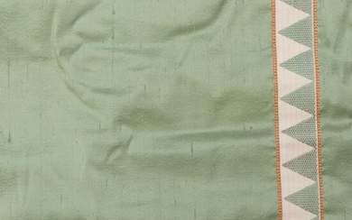 Set of Green Silk Curtains