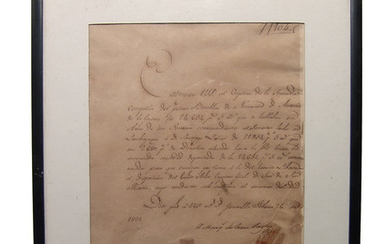 Spanish War document requesting medical aid, 1821