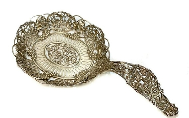 Sterling Silver Pierced Fruit Strainer, circa 1900