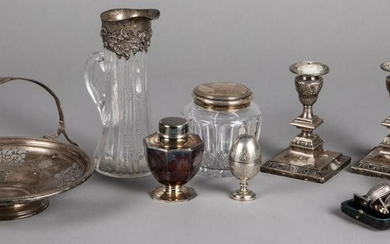 Sterling silver, plate and mounted silver wares