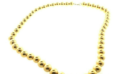 VINTAGE 10k Yellow Gold Ball Necklace