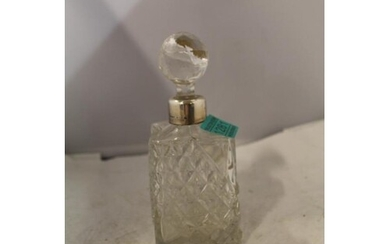 Victorian Cut Glass Perfume Bottle with Silver Collar - Birm...