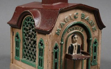 "Vintage Cast Iron Toy ""MAGIC"" Mechanical Bank"