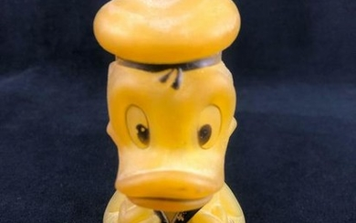 Vintage Light Up Rubber Donald Duck 1973 By Horseman