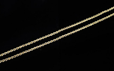 18KT ITALIAN CHAIN NECKLACE, 35.4 GRAMS