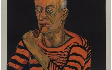 65082: Alice Neel (1900-1984) Portrait of John Rothschi
