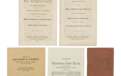 Group of Civil War Items Pertaining to Jefferson Davis,
