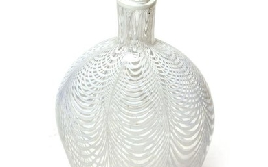 A 19th century Nailsea glass flask
