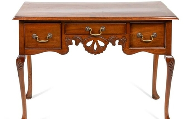 A Chippendale Style Mahogany Dressing Table Height 29