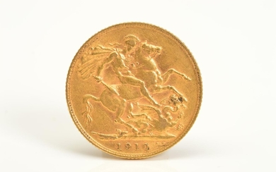 A FULL GOLD SOVEREIGN EDWARD VII 1910