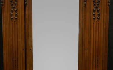 A French Louis XVI style triple door armoire