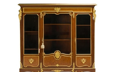 A French Millet a Paris marquetry bookcase