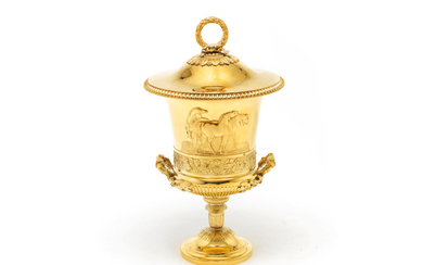 A George III silver-gilt two-handled cup and cover