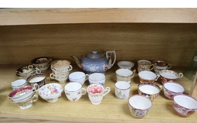 A collection Victorian and later teawares, teapot height 16c...
