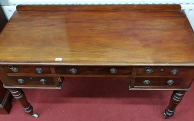 A good 19th Century Mahogany Kneehole Desk with twin drawers...