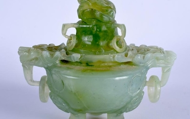 AN EARLY 20TH CENTURY CHINESE HARDSTONE INCENSE BURNER,