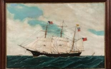 American School, Late 19th Century Portrait of the Clipper Ship Transit