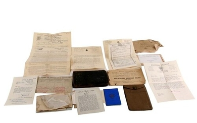 An interesting collection of WW1 documents, paperwork and pe...