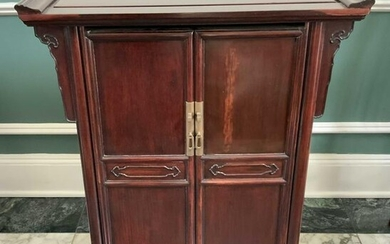 Asian two Door Wood Cabinet Table