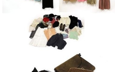 Assorted Circa 1940's and Later Costume, including a black wool...