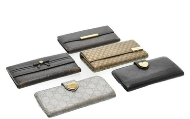 Authentic Gucci Guccissima Long Wallet Leather 5Set
