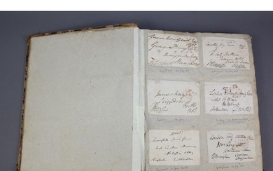 Autographs of MP's, Lords etc in a book containing about 330...