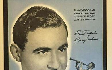 Benny Goodman Signed Sheet Music, Ready for Framing