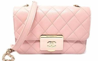 Chanel Classic Flap Quilted Pink Calfskin Leather