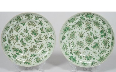 Chinese Export Famille Verte Soup Bowls