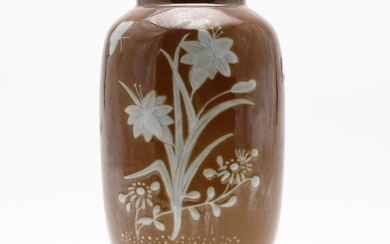 Chinese brown porcelain vase, 20th Century.