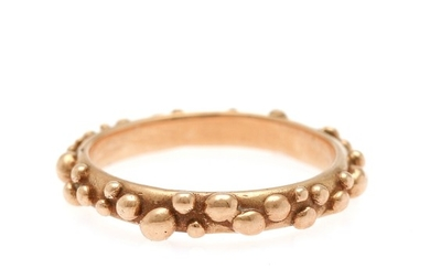 Christel Kaaber: A ring of 14k gold. Size 58. Weight app. 4.4 g.